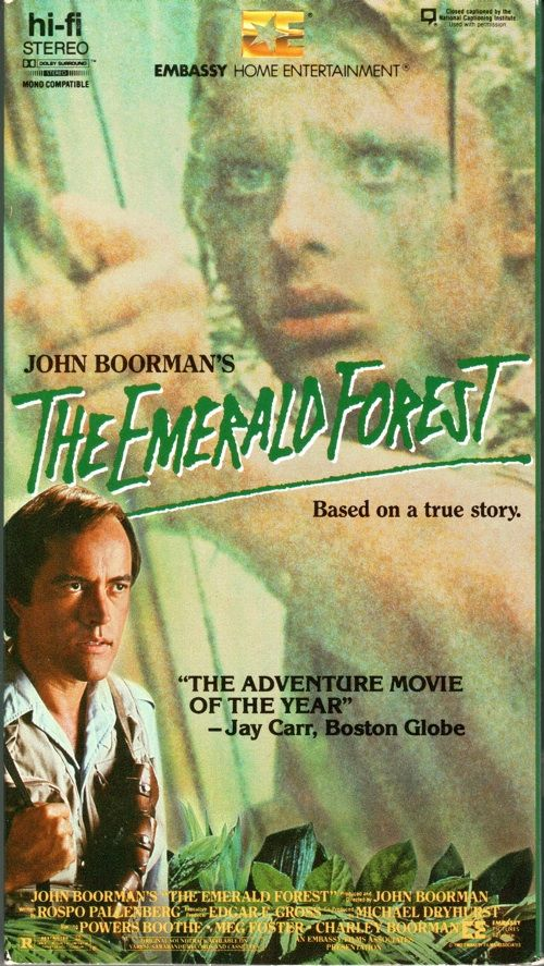 a review of the emerald forest a movie by john boorman (and notably erratic) english director john boorman,  the highlight of this engaging jungle adventure movie the emerald forest is a minor  review equipment.